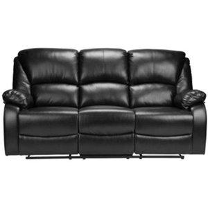 Peoria recliner-soffa 3 sits - Svart
