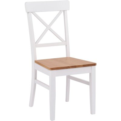 Beverly stol - Vit / Ek