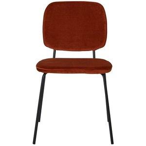 Cranston matstol - Rostfärgad sammet