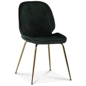 Deco velvet stol - Grön / Mässing
