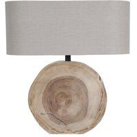 Woody bordslampa - Beige / Trä