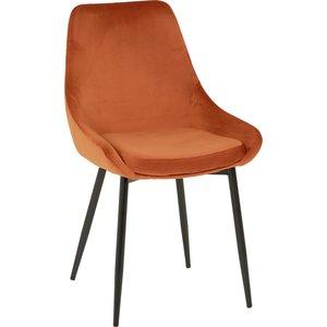 Theo stol - Orange sammet