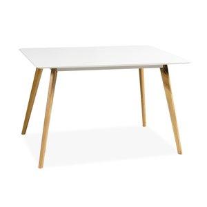 Matbord Linköping 120 cm - Ek/vit