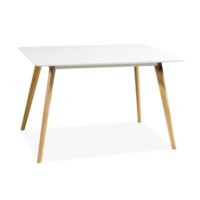 Linköping matbord 120x80 - Vit/ek