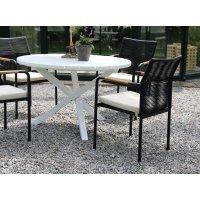 Scottsdale matbord runt Ø112 cm - Vit