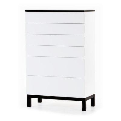 Österlen byrå med 6 lådor - vit / svart