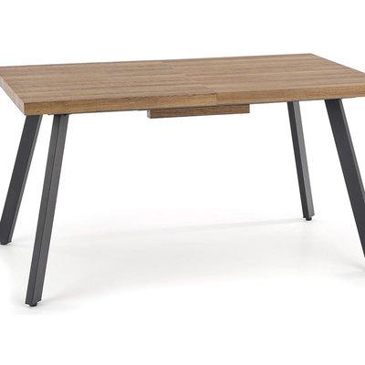 Gladwyn matbord med butterfly 140-180 cm - Ek/svart