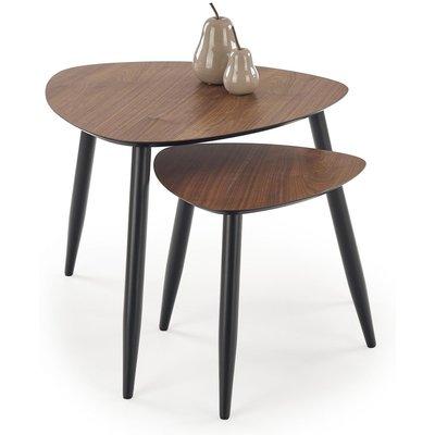 Adaline satsbord - Valnöt/svart