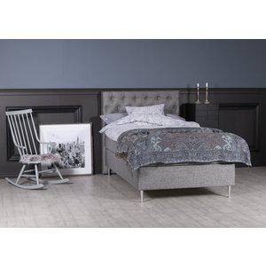 Dream komplett sängpaket ink gavel 7-zons kontinentalsäng 120 cm - Grå