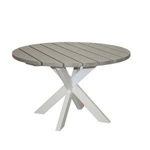 Matbord Colorado 120 cm - Vit/Shabby Chic grå