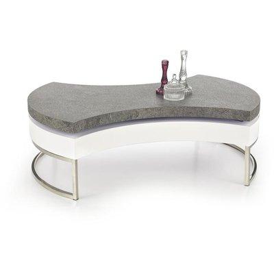 Athena soffbord - Vit / betong