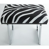 New York fotpall 55 cm - Zebra/Silver