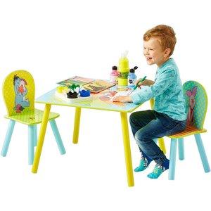 Nalle Puh bord och stol - Gul/blå