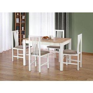 Bodviken matbord 120 cm - Vit/ek