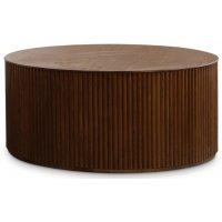 Cylinder runt soffbord Ø100 cm - Valnöt