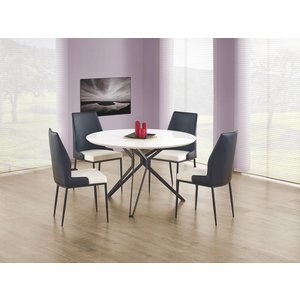 Bibbi matbord 120 cm - Vit/svart