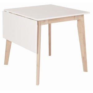 Nordkap bord med klaff - Vit / Ljus ek 75 cm