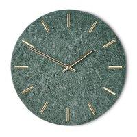 Väggklocka Timeless - Grön/guld
