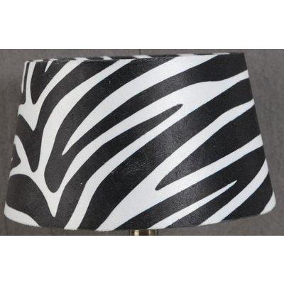 Velvet lampskärm 25 cm - Zebra