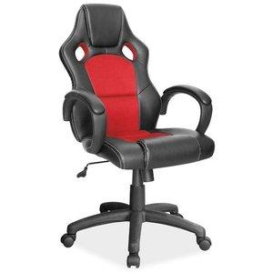 Braelynn kontorsstol - Svart/röd