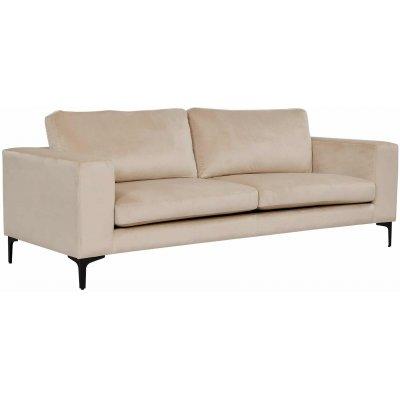 Aspen 3-sits soffa - Beige sammet