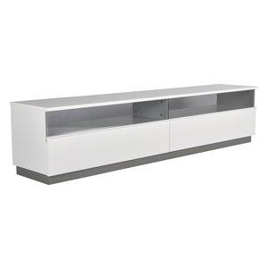 TV-bänk Decibel XL - Med sockel (vit melamin)