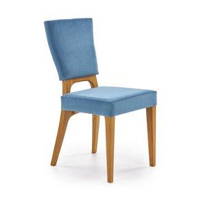 Clemens matstol - Blå/ek