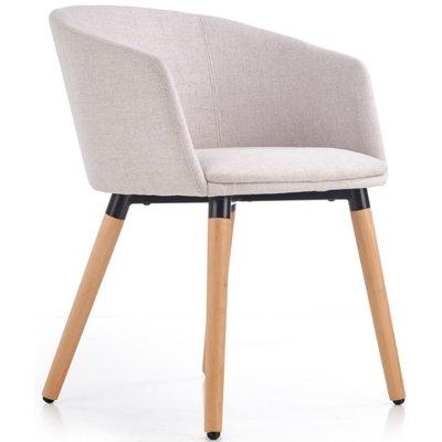 Vester matstol - Beige (Tyg) / Trä