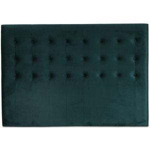 Centa sänggavel med knappar (Grön sammet) - Valfri bredd