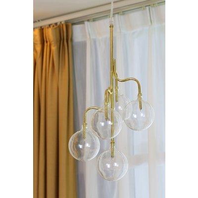Globe taklampa - Mässing / Glas
