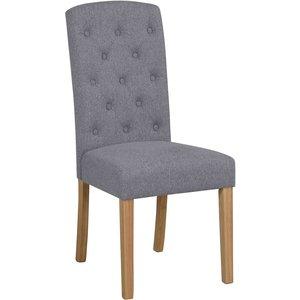 Aubree stol - Ljusgrå/ek
