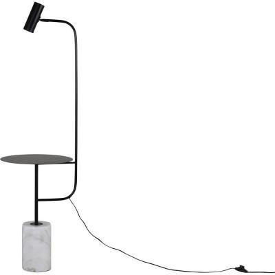 Malsta bordslampa - Vit marmor/svart
