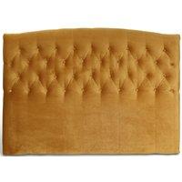 Love sänggavel med knappar (Guld sammet) - Valfri bredd