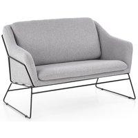 Regina soffa - Ljusgrå/svart