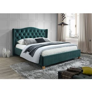 Duncan säng - Mörk grön - 160x200