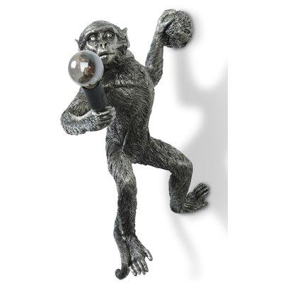 Monkey Vägglampa - Silver