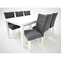 Sofiero matgrupp - Bord inklusive 6 st Crocket stolar - Vit