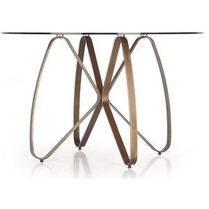 Rhonda runt matbord 120 cm - Brun / Antikt guld
