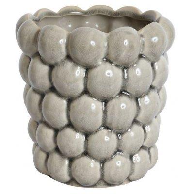 Kruka Big Bouble H16 cm - Ljusgrå (Glansig)