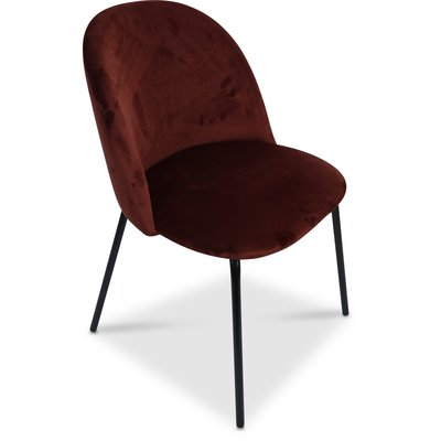 Giovani velvet stol - Bordeaux/Svart
