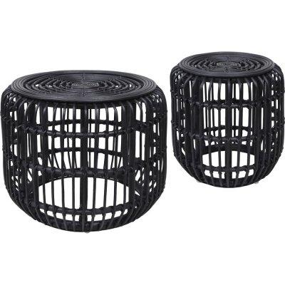 Edsta soffbord set - Rotting/svart