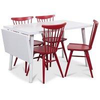 Dalsland matgrupp, Bord med klaff och 4 st röda Thor pinnstolar