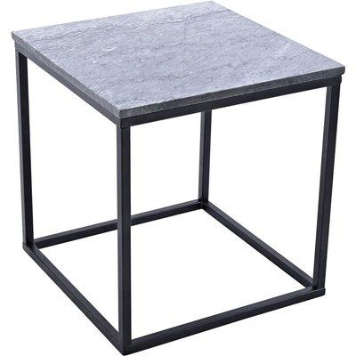 Accent sidobord 50 - Grå marmor / Svart underrede