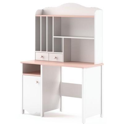 Letitia skrivbord - Vit/rosa