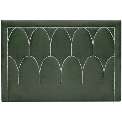 Dalarö sänggavel (Smaragdgrönt sammet) - Valfri bredd