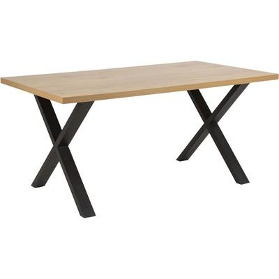 Wales Matbord - Ek/svart
