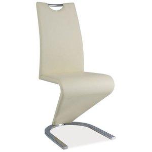 Lillie stol - Krämvit/krom