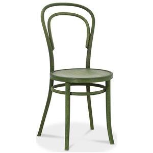 Böjträ Stol No14 Klassiker - Grön betsad