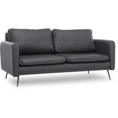 Sjötorp 2-sits soffa - Svart PU