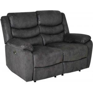 Lorena 2-sits reclinersoffa el - Grå